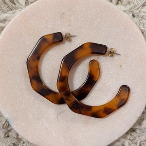 J. Crew Acetate Tortoiseshell Earrings